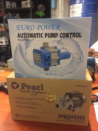 Combo Bomba Pearl 1/2 Hp & Press-control Europower Dps-1 .