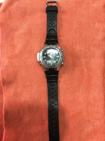 Relógio Citizen Aqualand Jp1060 Fundo Preto