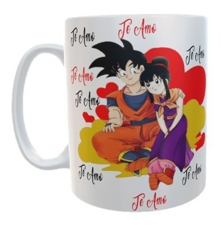 San Valentin Amor Dragon Ball Pocillo Taza Parejas Goku Love