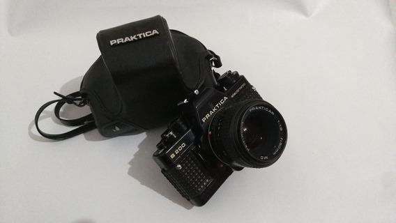 Praktica B200 Eletronic Com Lente Pentacon 50mm , C Defeitos