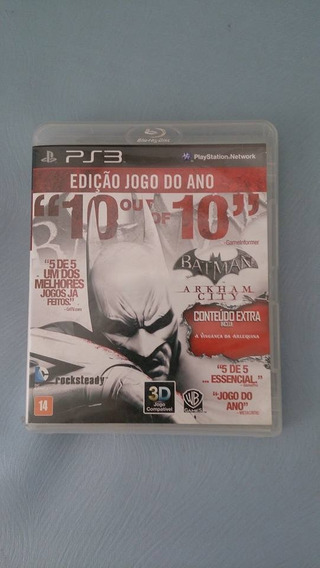 Ps3 Jogo Batman Arkham City Goty - Midia Fisica