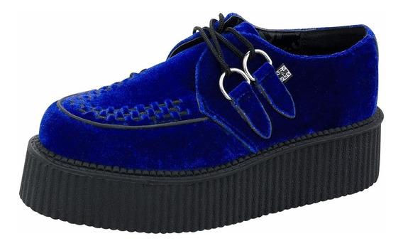Creepers Terciopelo Azul Tuk A8536 Velvet Corvus Demonia