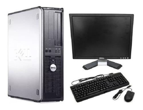 Imagem 1 de 1 de Cpu Completa Dell Core 2 Duo 4gb Hd 500gb + Monitor 17