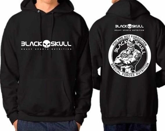 Casaco De Frio Black Skull Musculação Blusa Moletom Promoção