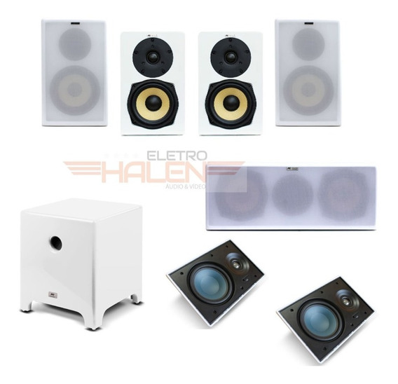 Kit Aat Home Theater Dolby Atmos 5.1.2 - Bsf-100 - Modern 10