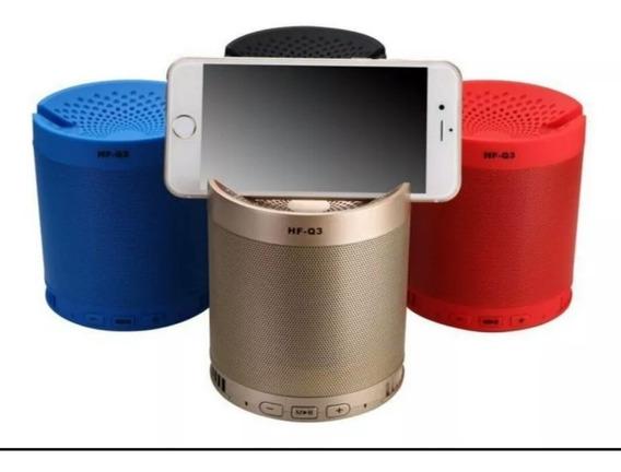 Kit 2 Mini Caixinha Hf-q3 Portátil Bluetooth Usb Mp3 P2 Sd