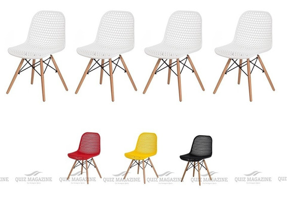 Kit 4 Cadeiras Eiffel Colmeia Mesa De Jantar Cozinha Cores
