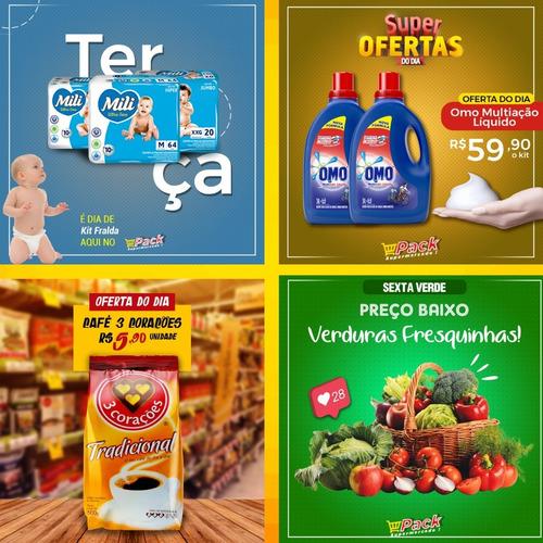 Pack Com 10 Artes Supermercado Editáveis No Photoshop