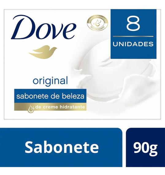 Sabonete Em Barra Dove Branco 90 Gr 8 Unidades