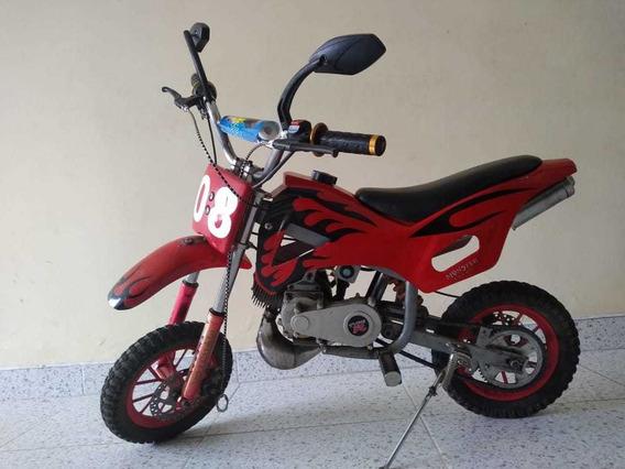 Motocicleta Cross Para Niño, Motor 50cc, 2 Tiempos