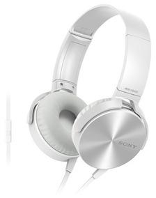 Fone De Ouvido Com Microfone Sony Mdr Xb450ap Branco