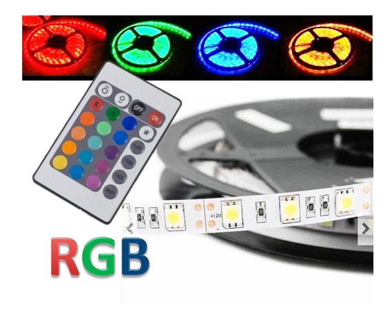 Kit 3x Fita Led Rolo 5m Rgb 5050+fonte+controle + Sequencial