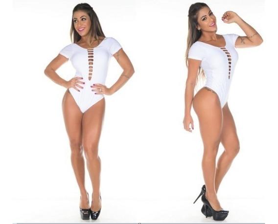 Body, Com Decote E Manguinha Panicat