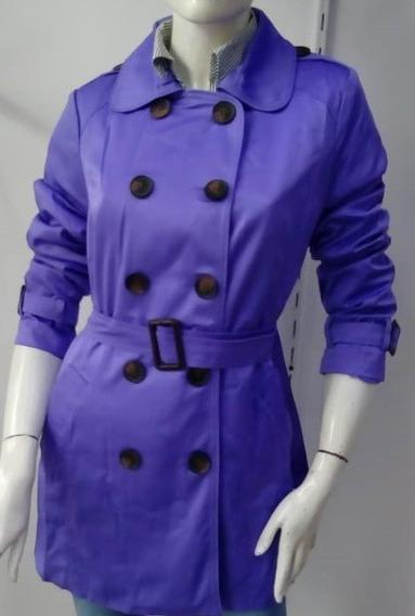 Gabardina Color Violeta De Dama