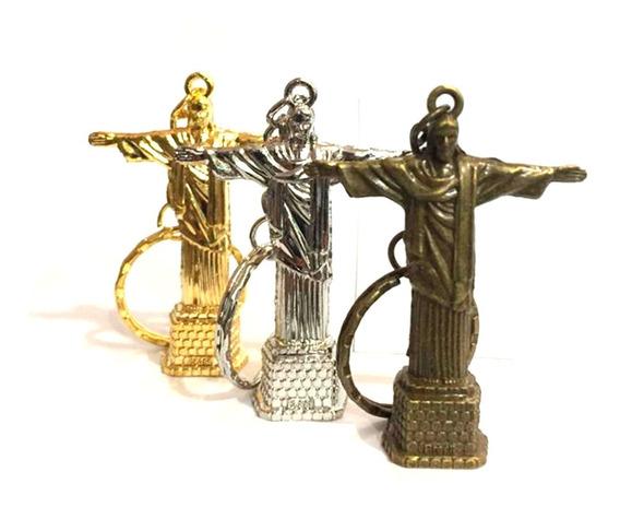Kit 12 Chaveiros Metal Cristo Redentor Rio De Janeiro