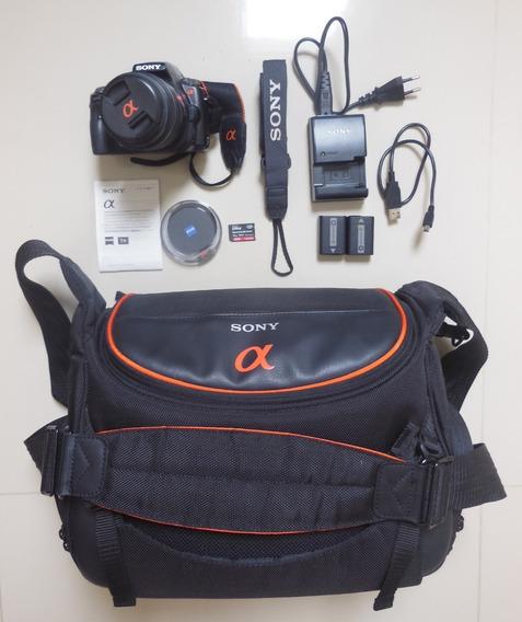Câmera Sony Alpha A-55 E Lente Sony Alpha 18-55mm - Sony A55