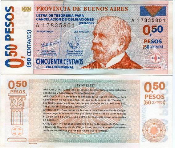 Spg Argentina Bono Patacon 50 Centavos 2002 Sin Circular