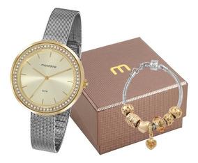 Relógio Mondaine Feminino Prata/ Dourado 53668lpmvbe3k1