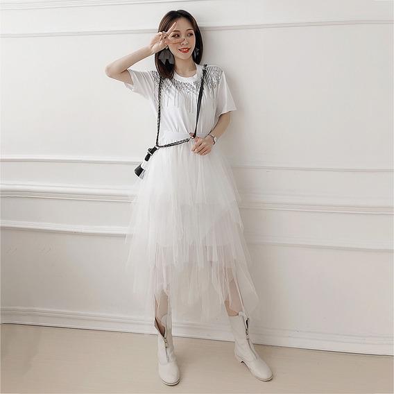 Mulheres 2 Peça Outfits Definir , Sólido Saia Sets Com Cur
