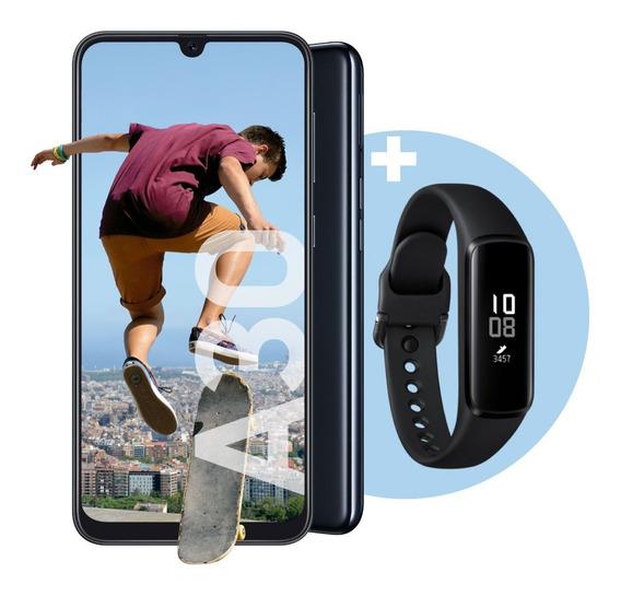 Celular Libre Samsung Galaxy A30 Blanco + Galaxy Fit E