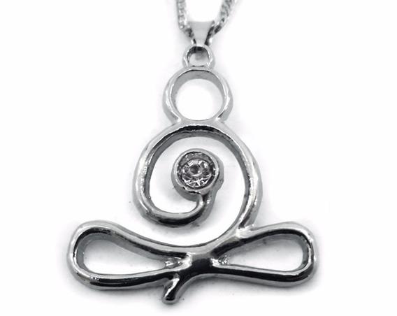 Colar Yoga Padmasana Niquel Corrente