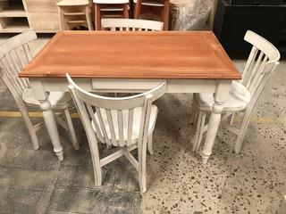 Mesa Y Sillas Cocinas Shabby Chic Modernas Ondas en Mercado ...