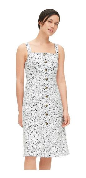 Vestido Casual Dama Mujer Sin Mangas Lino Botones 418550 Gap