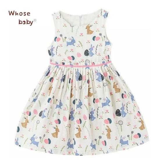 Vestido Infantil Estampado Para Meninas 08 Anos