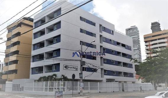 Apartamento À Venda Com 3 Dormitórios, Sendo 1 Suite E 2 Vagas, Em Cabo Branco. - Ap0444