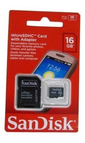 Kit 2 Cartão De Memória Sd Sandisk 16 Gb 100% Original