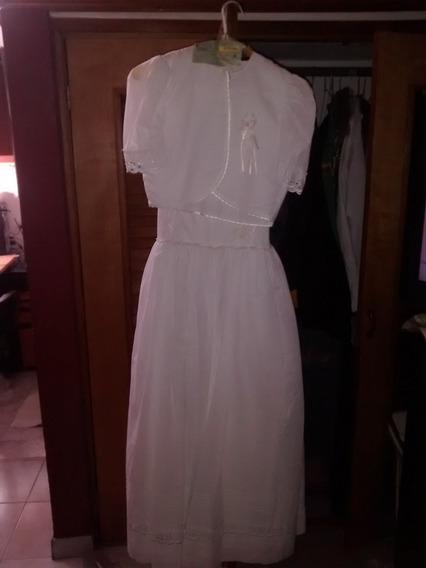 Vestido Para Primera Comunión (30vrds) Talla 10