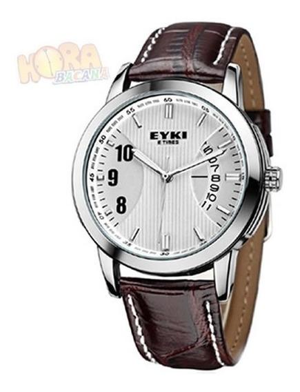 Relógio Unissex De Pulso Eyki De Quartzo Elegante