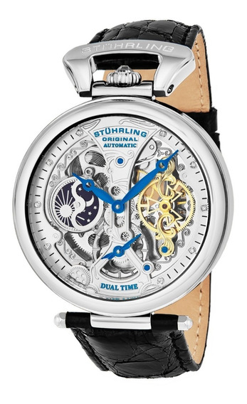 Reloj Hombre Stuhrling Automatico Skeleton Emperor 33152