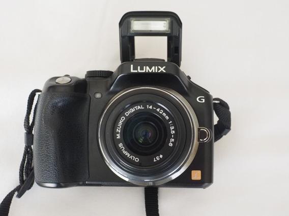 Panasonic Leica M4/3 Lumix G5 Com Lente Olympus 14-42mm Mft