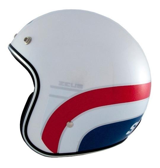 Capacete Zeus 380h K63 Branco/azul/ver Preço Promocional