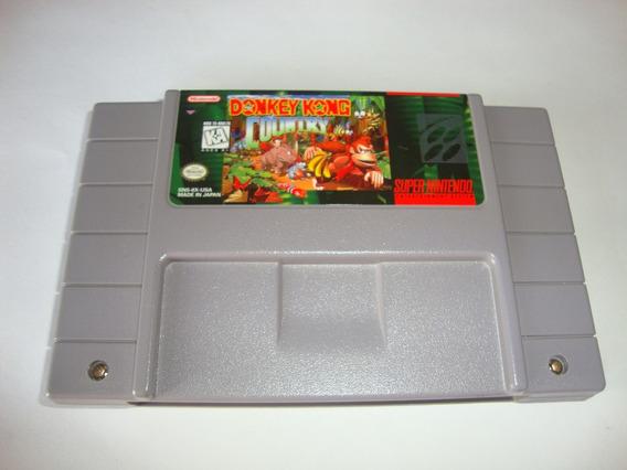 Donkey Kong Country Original Americano Novinho Para Super Ni