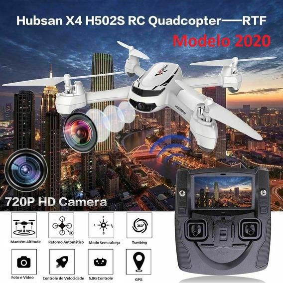 Drone Camera Gps Hubsan H502s 720p Novo Man Port + Brinde.