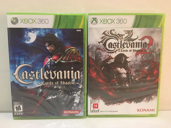 Castlevania Lords Of Shadow 1 & 2 Microsoft Xbox 360 Lacrado