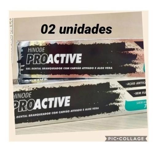 Gel Dental Carvao Ativado + Aloe Vera Pro Active 02 Unidades