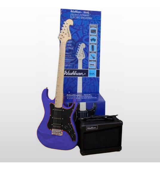 Kit Principiante Guitarra Electrica + Ampli. Funda Washburn