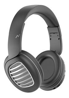 Auriculares inalámbricos Noga NG-A80BT negro y plateado