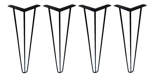 Imagem 1 de 2 de 4 Pé Hairpin Leg 80cm Triplo Industrial Mesa Aparador 3/8