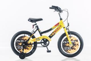 Bicicleta Rodado 16 De Varon Futura Twin Bmx C/ Rueditas