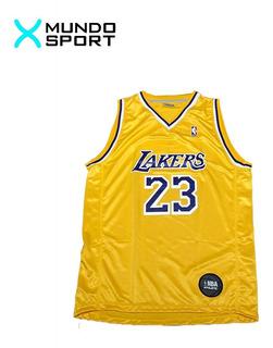 Musculosa De Basquet Nba Lakers Amarilla Lebron James Adulto