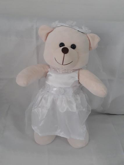 Urso De Pelúcia Ursinha Noiva Com Véu 45cm Sua Grande Amiga