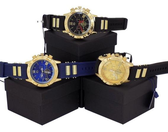 Kit Com 3 Relógios Orizom Spaceman Original Slicone Caixa