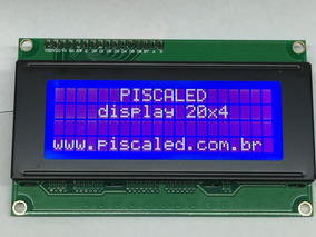 Kit 5x Display Lcd 20x4 Backlight Azul E Escrita Branca