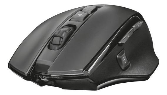 Mouse Trust Wireless Gxt 140 Manx 8 Botones Black Ergonómico