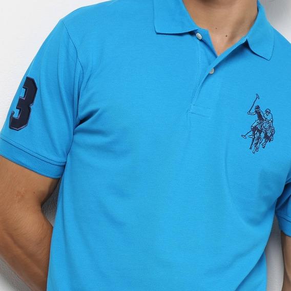 Camisa Polo Masculina Lisa Uspa - U.s. Polo Assn Promoção