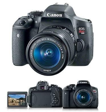 Canon T6i + Lente 18-55 Stm